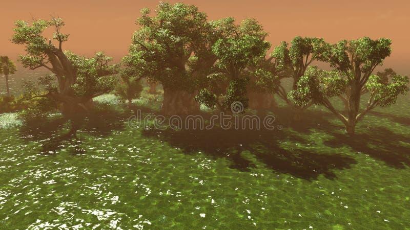 Download Wetland stock illustration. Image of river, grassland - 26511488