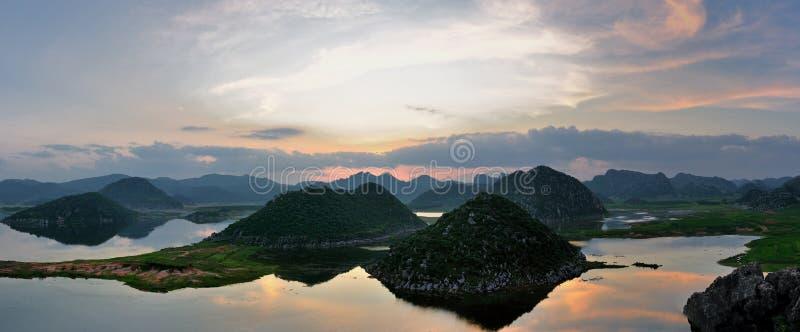 Wetland panorama stock image