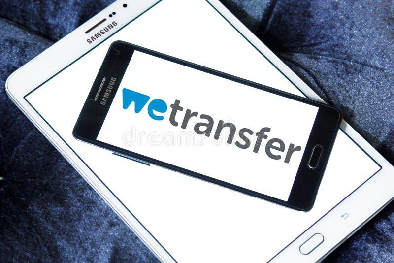 WeTransfer服务商标 库存照片