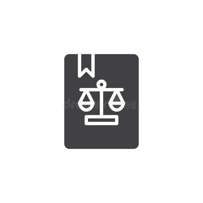 Wetsboek met referentie vectorpictogram stock illustratie