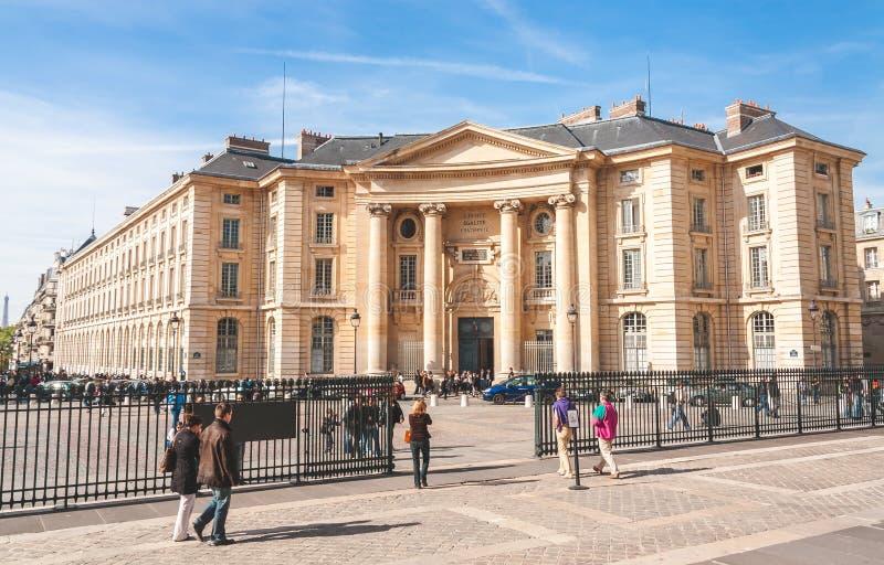 Wetsfaculteit van Sorbonne stock afbeeldingen