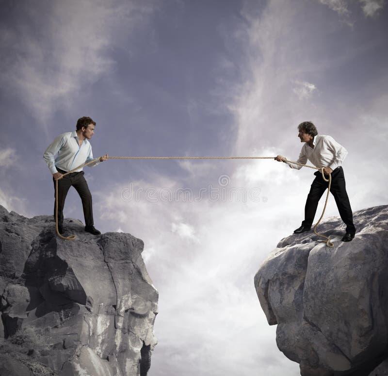 Wettbewerb im Geschäft lizenzfreie stockfotos