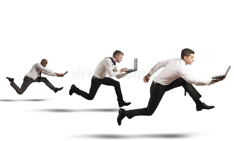 Wettbewerb im Geschäft stockbild
