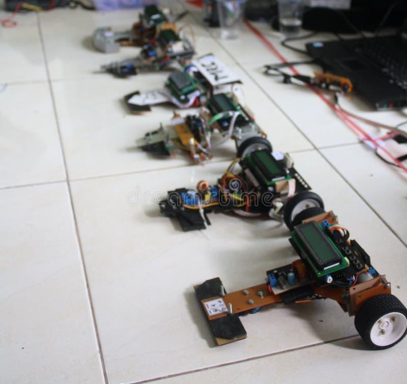 Wettbewerb um Follower-Roboter in Yogyakarta lizenzfreie stockfotografie