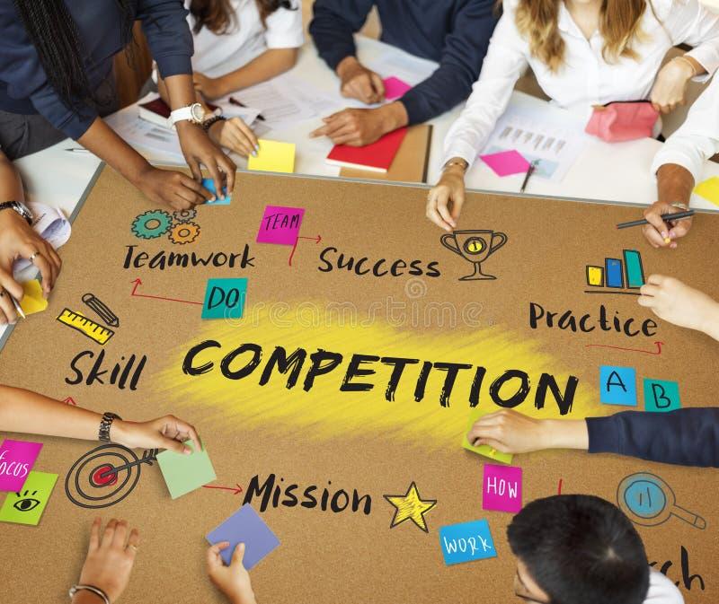 Wettbewerbs-Ziel-Ziel-Erfolgs-Entwicklungs-Konzept lizenzfreies stockfoto