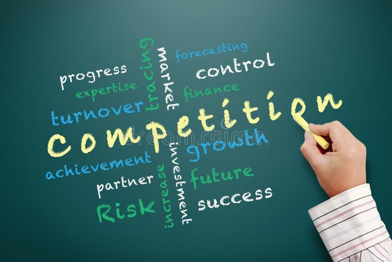 Wettbewerbskonzeptideen und andere in Verbindung stehende Wörter vektor abbildung