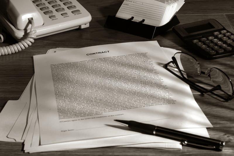 Wettelijk Contract Klaar om worden ondertekend royalty-vrije stock afbeelding