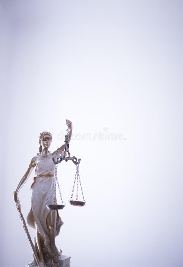 Wettelijk de rechtvaardigheidsstandbeeld van het wetsbureau royalty-vrije stock afbeelding