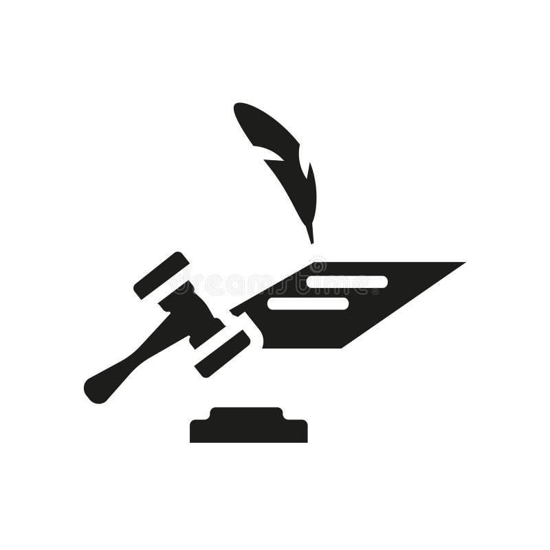 Wettelijk document pictogram In Wettelijk document embleemconcept op witte backg royalty-vrije illustratie