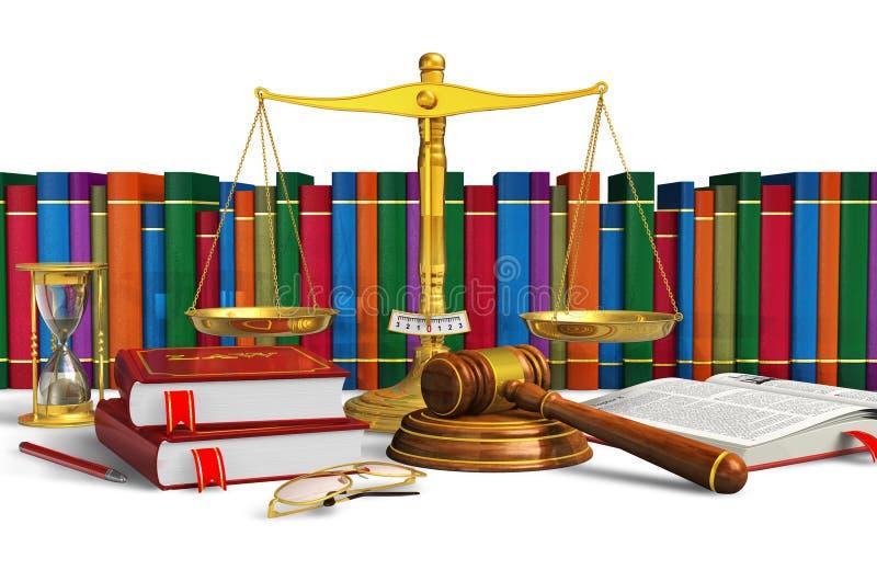 Wettelijk of het bieden concept stock illustratie