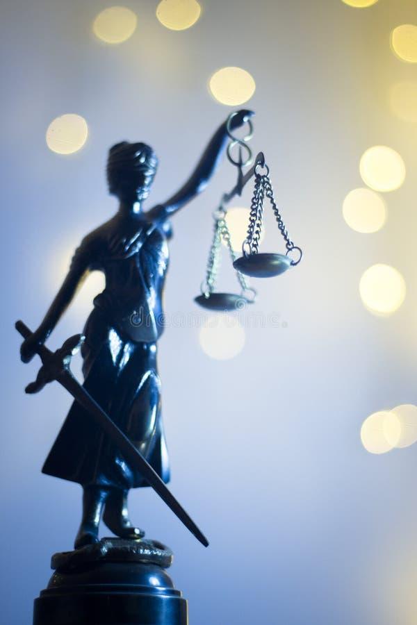 Wettelijk het bureaustandbeeld van de advocatenrechtvaardigheid royalty-vrije stock afbeelding