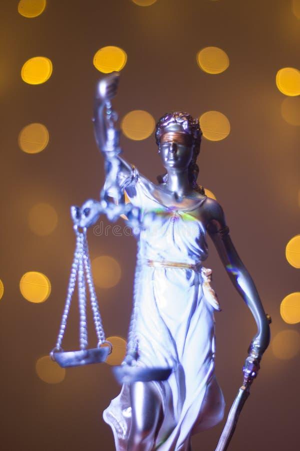 Wettelijk het bureaustandbeeld van de advocatenrechtvaardigheid stock afbeelding