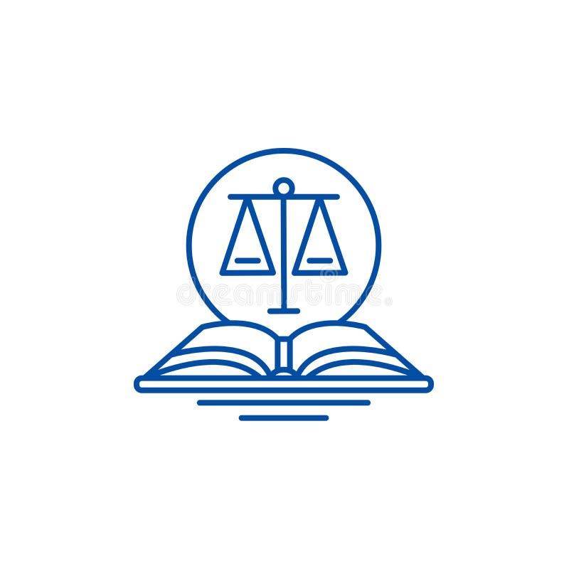 Wettelijk het pictogramconcept van de codelijn Wettelijk code vlak vectorsymbool, teken, overzichtsillustratie royalty-vrije illustratie