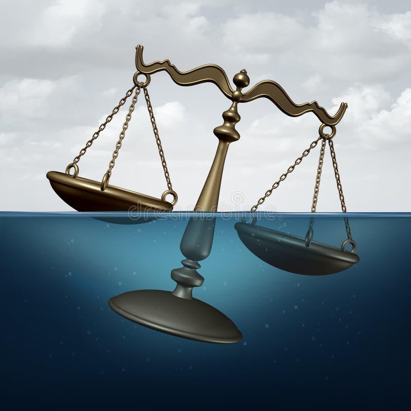 Wettelijk Probleem stock illustratie