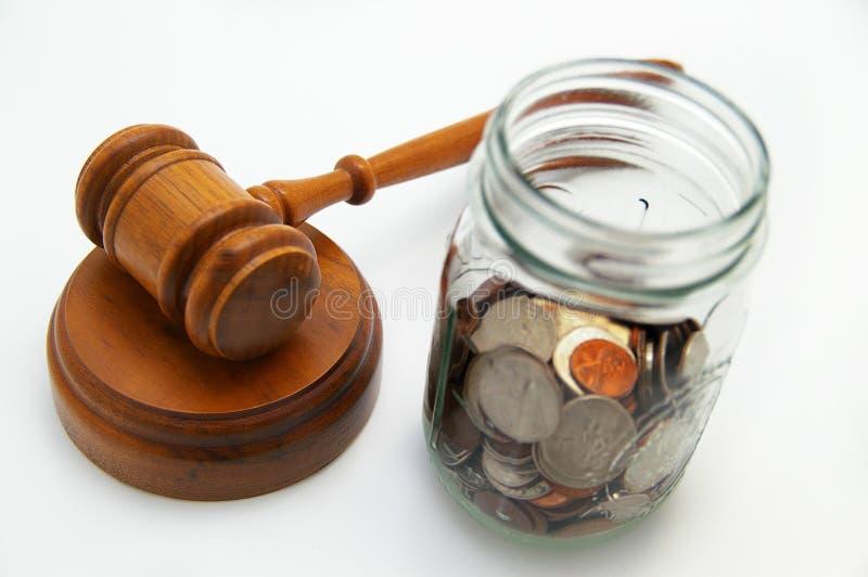 Wettelijke kosten royalty-vrije stock foto