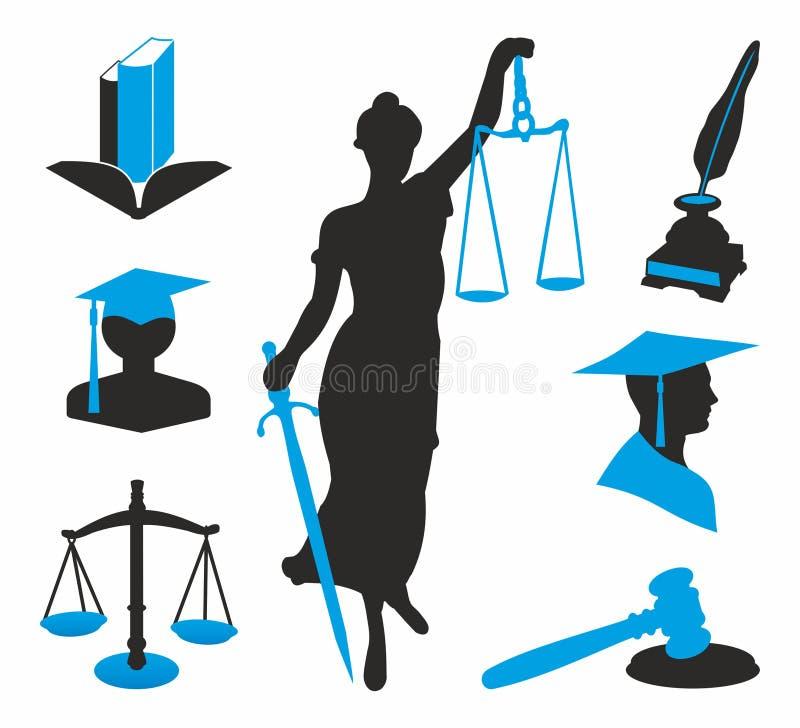 Wettelijke pictogrammen stock illustratie
