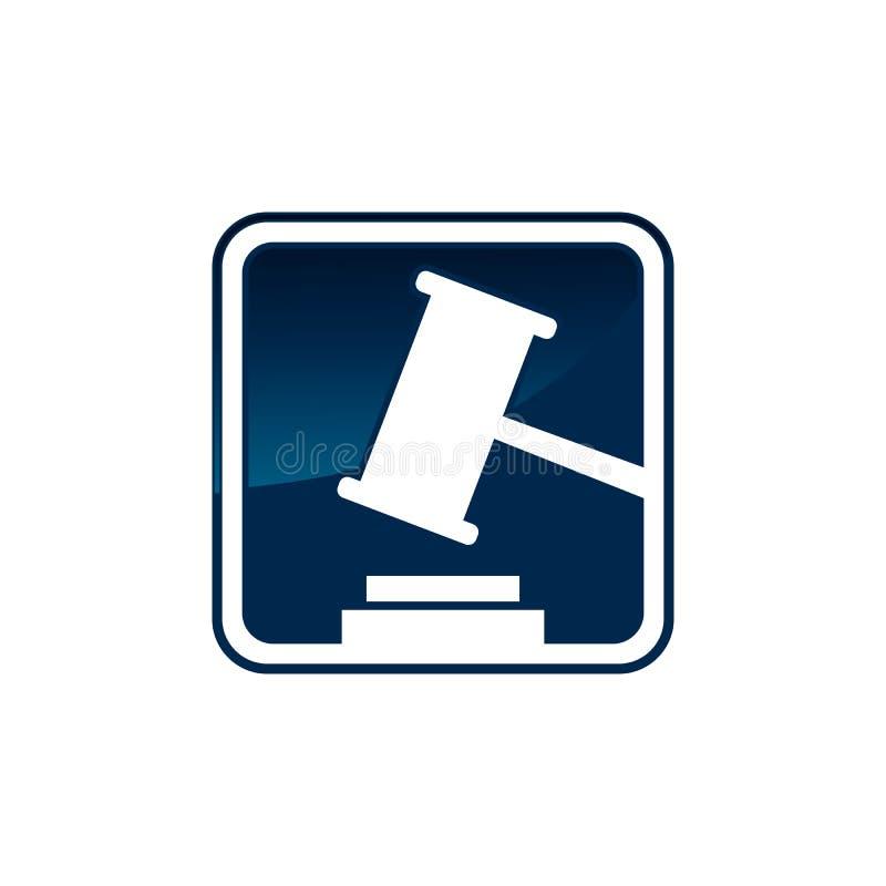 Wettelijke van het het embleembedrijf van het hofadvocatenkantoor het ontwerpvector royalty-vrije illustratie