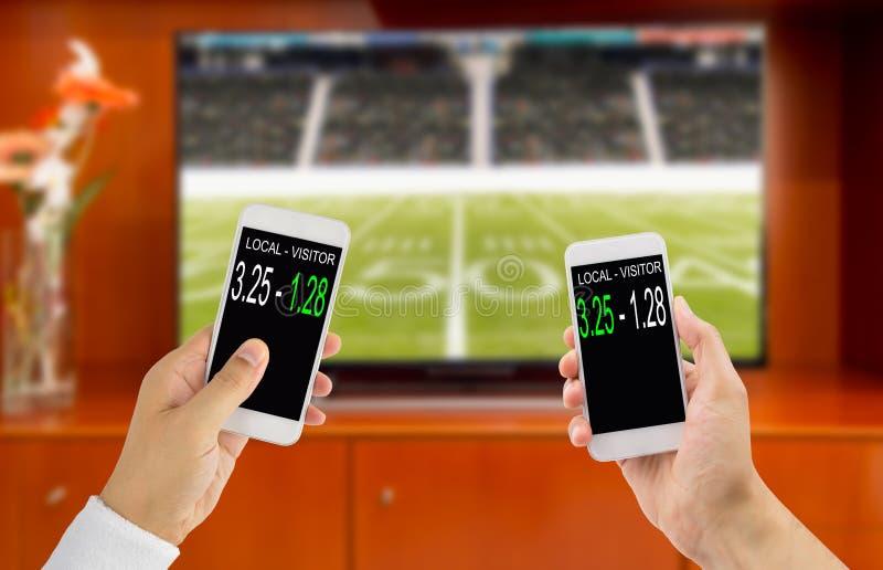 Wetten im amerikanischen Fußball lizenzfreies stockbild