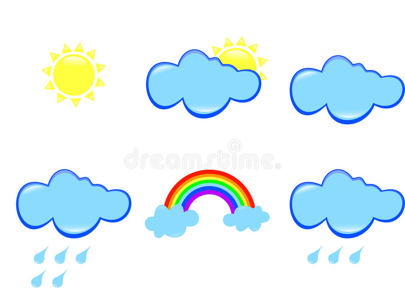 Wetter stock abbildung