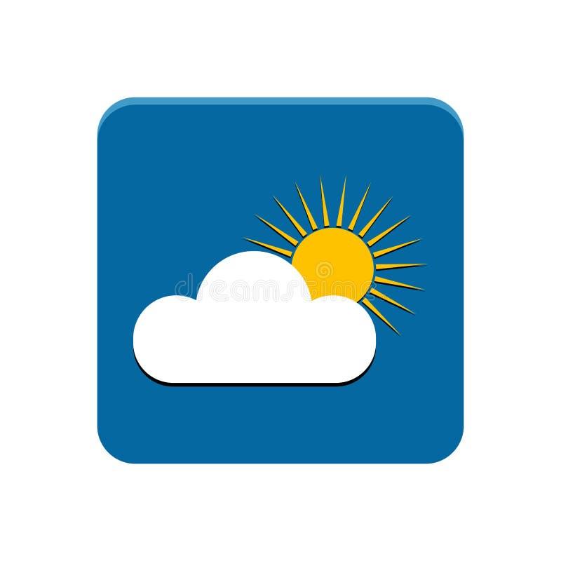 Wetter-APP-Knopf lizenzfreie abbildung