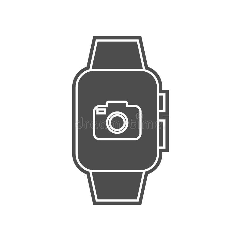 Wetter auf einer intelligenten Uhrikone Element von minimalistic f?r bewegliches Konzept und Netz Appsikone Glyph, flache Ikone f stock abbildung