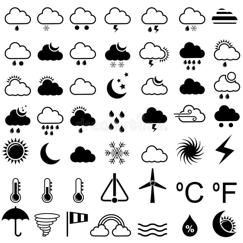 Wetter-Ikone lizenzfreie abbildung