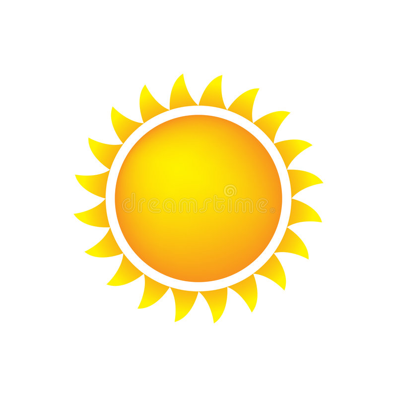 Wetter-Ikone Sun Lizenzfreies Stockbild