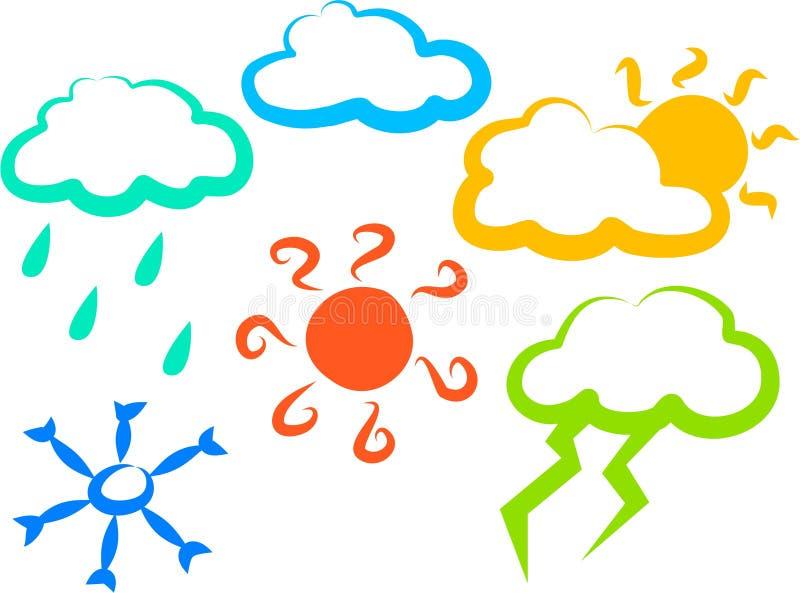 Wetter-Ikonen stock abbildung