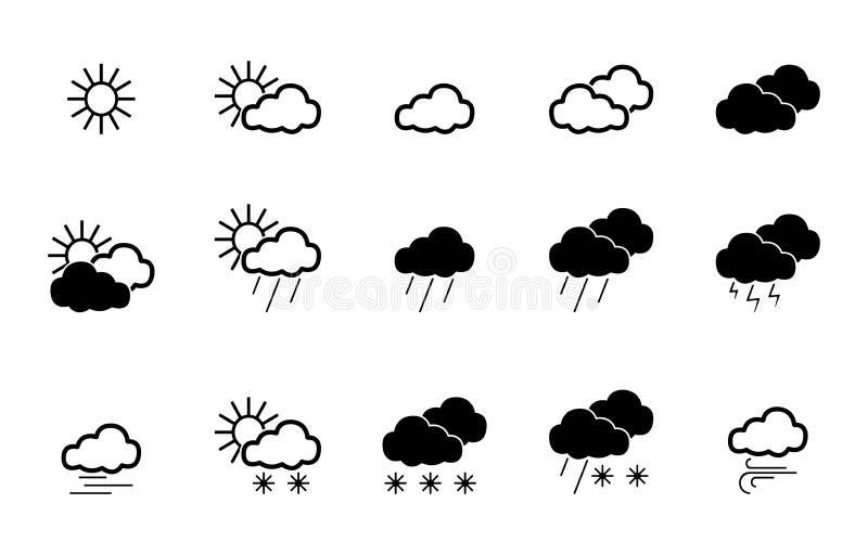 15 Wetter-Ikonen - Iconset lizenzfreie abbildung