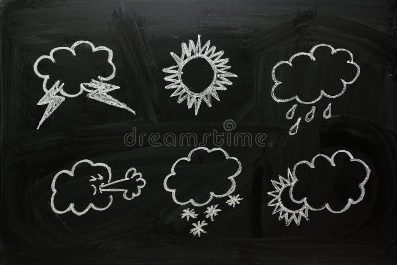 Wetter-Symbole lizenzfreie stockfotografie