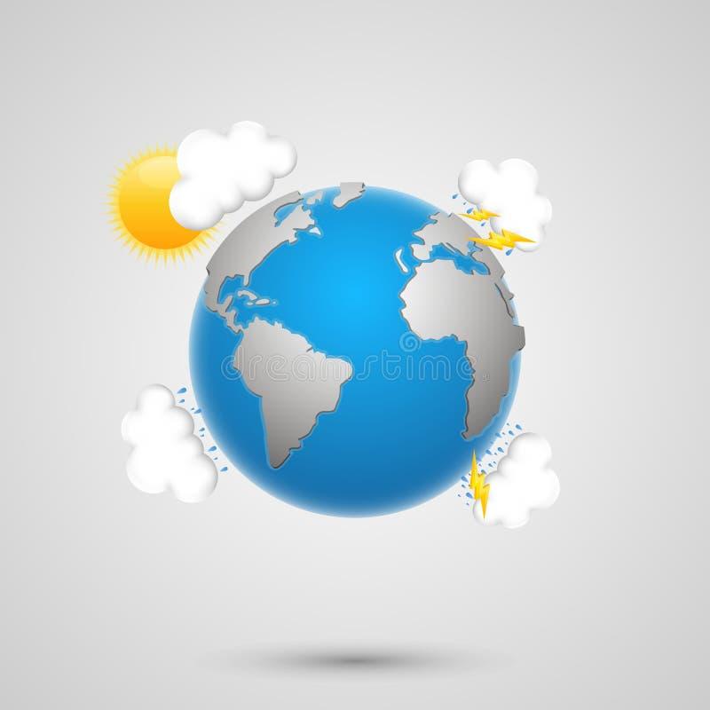 Wettererde lizenzfreie abbildung