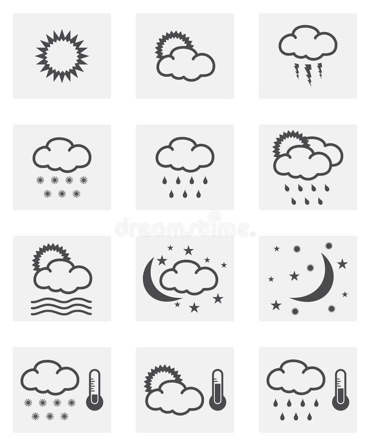 Wetterikonensatz stock abbildung