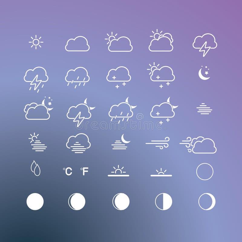 Wetterikonenvektor stockbild