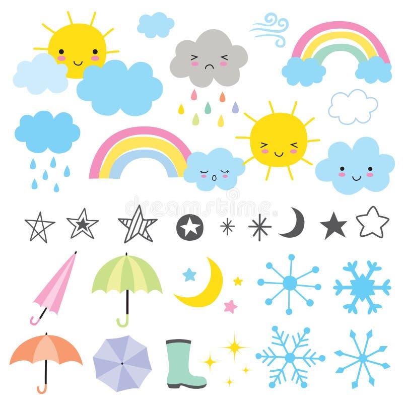 Wettervorhersage vektor abbildung
