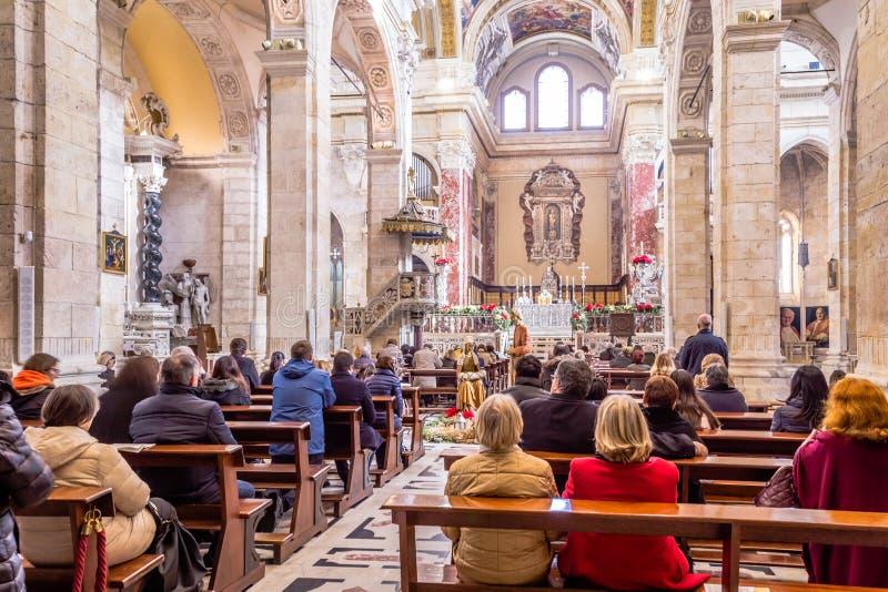 Wewnętrzna katedra Cagliari, Sardina, Włochy obrazy stock