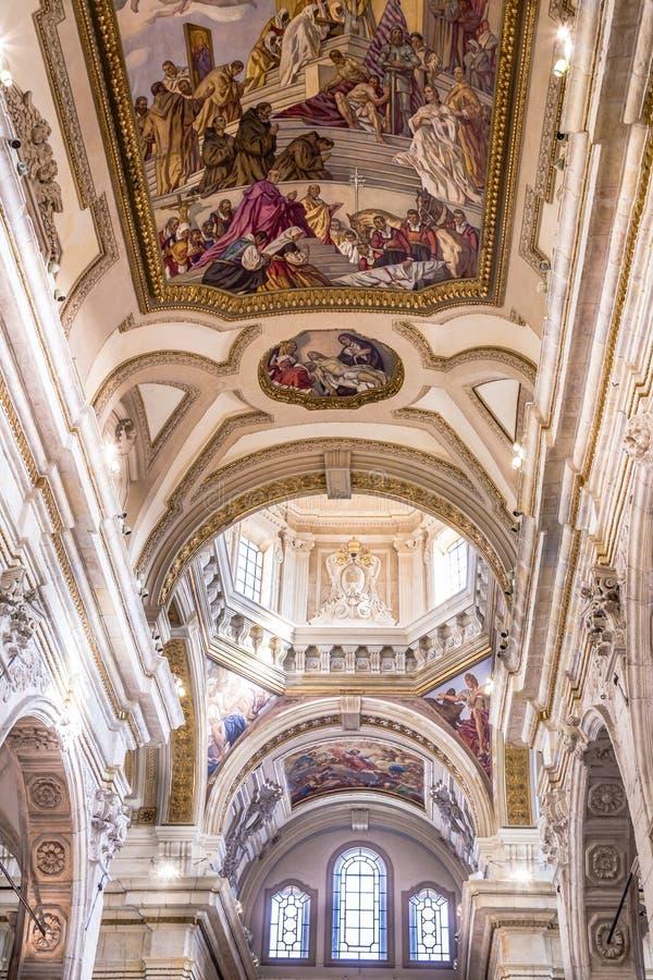 Wewnętrzna katedra Cagliari, Sardina, Włochy zdjęcie royalty free