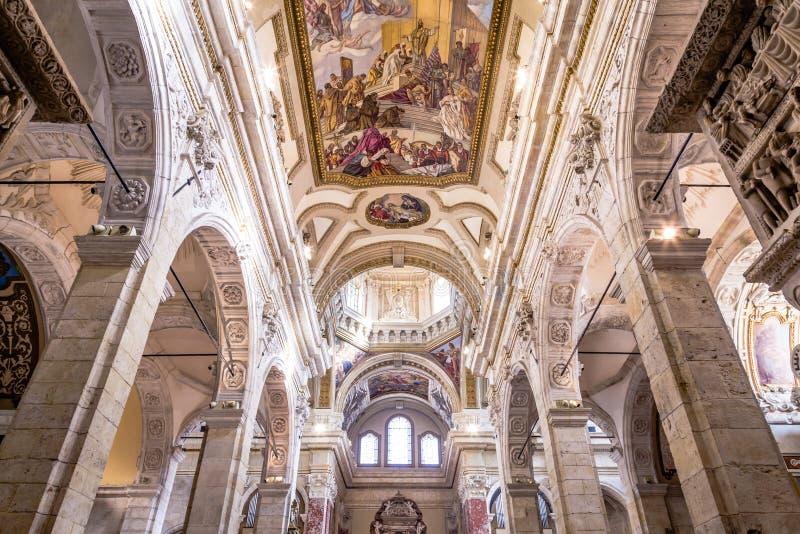 Wewnętrzna katedra Cagliari, Sardina, Włochy fotografia royalty free