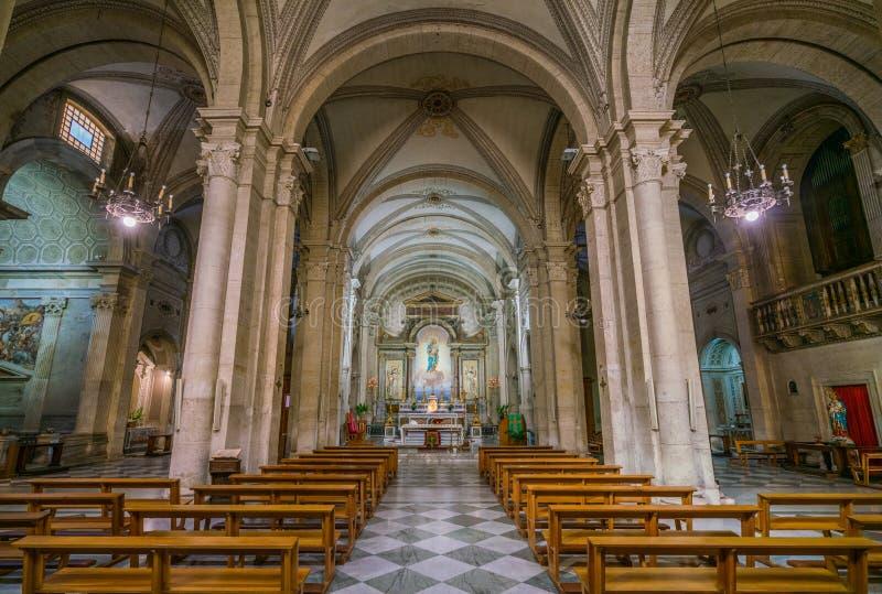 Wewnętrzny widok od kościół Nostra Signora Del Sacro Cuore w piazza Navona, Rzym, Włochy obrazy stock