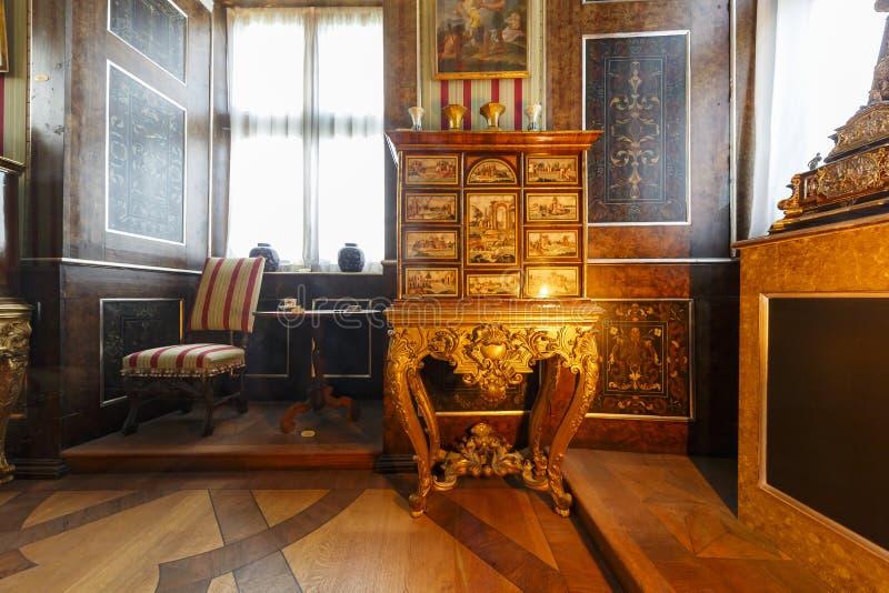 Wewnętrzny widok sławna Rosenborg szczelina zdjęcie royalty free
