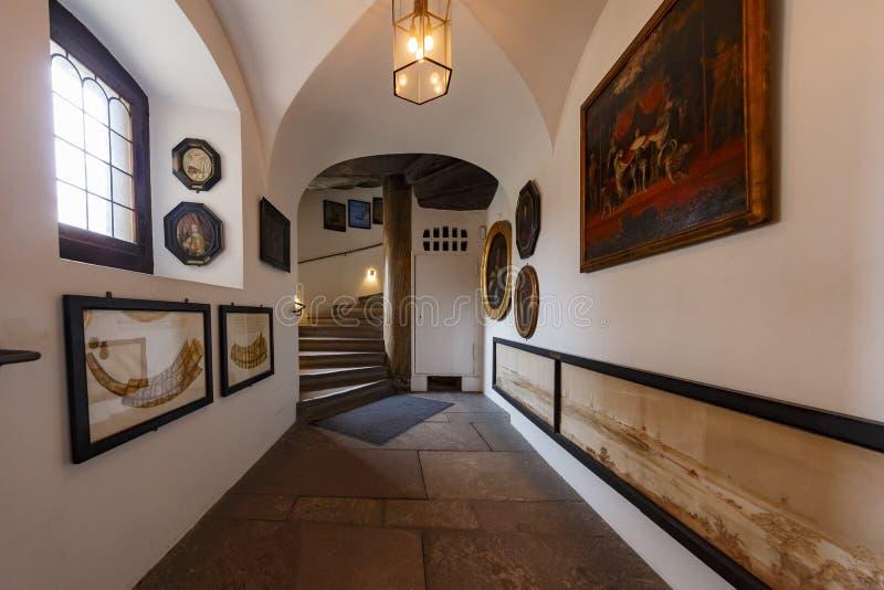 Wewnętrzny widok sławna Rosenborg szczelina fotografia royalty free