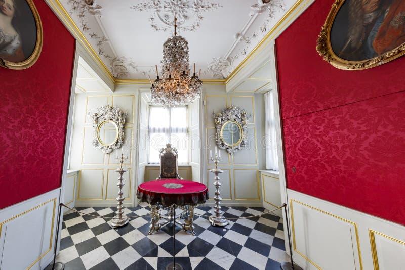 Wewnętrzny widok sławna Rosenborg szczelina obraz royalty free