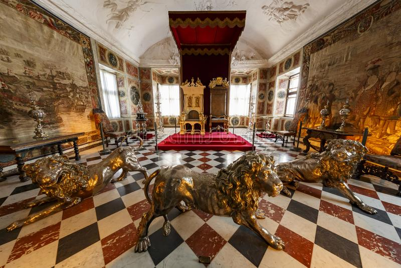 Wewnętrzny widok sławna Rosenborg szczelina zdjęcia royalty free