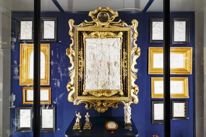 Wewnętrzny widok sławna Rosenborg szczelina obraz stock