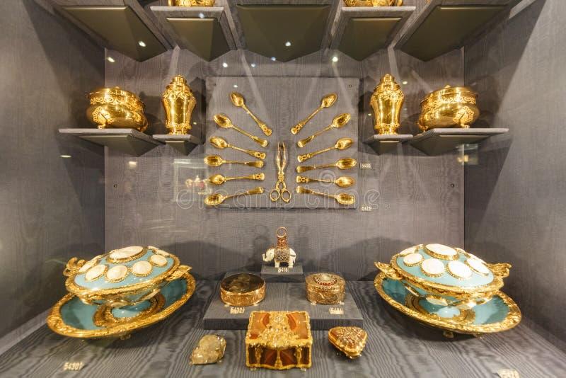 Wewnętrzny widok sławna Rosenborg szczelina obrazy royalty free