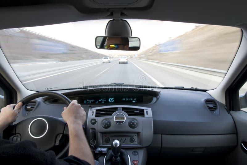 wewnątrz pojazdu w ruchu obraz stock