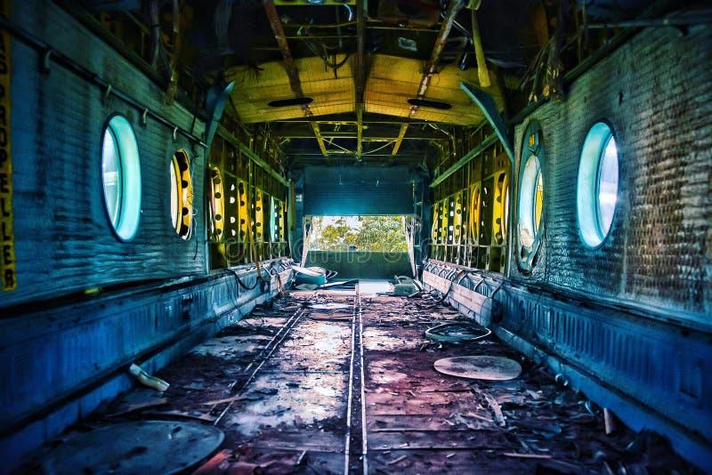wewnątrz statku powietrznego fotografia stock