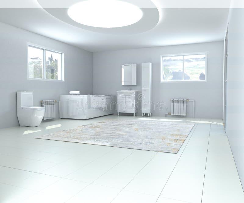 Wewnętrzna łazienka 3d odpłaca się wizerunek royalty ilustracja