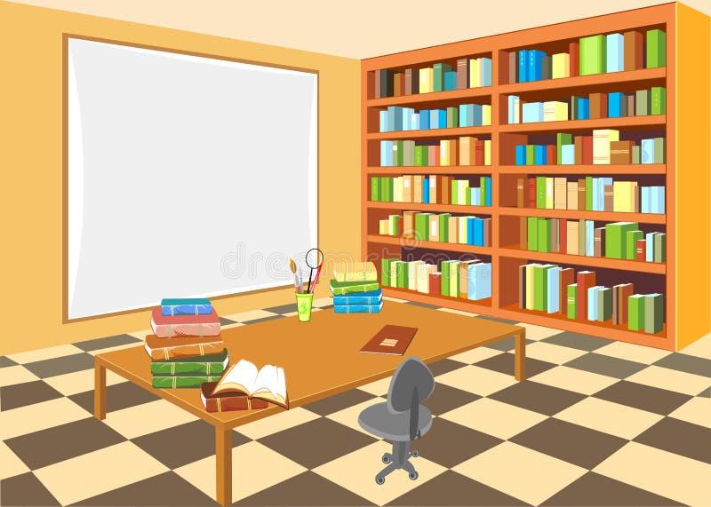 wewnętrzna biblioteka royalty ilustracja