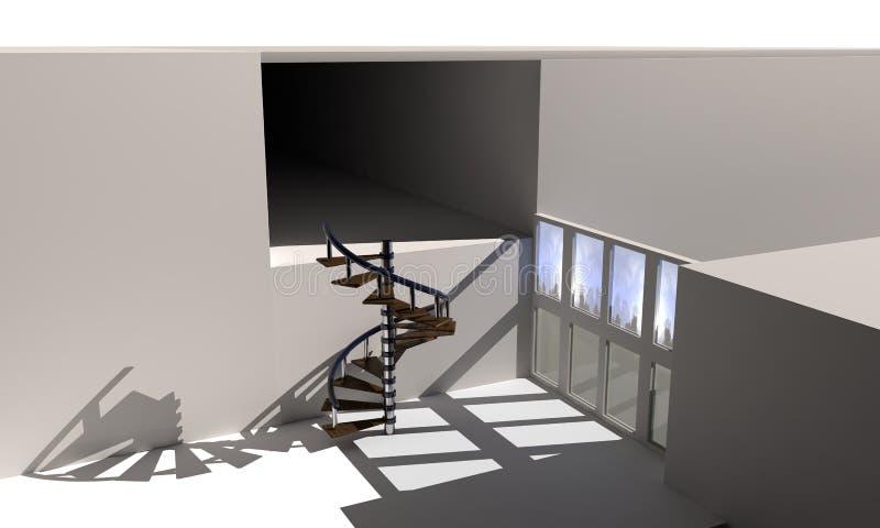 Wewnętrzna dekoracja tło, 3d ilustracja wektor