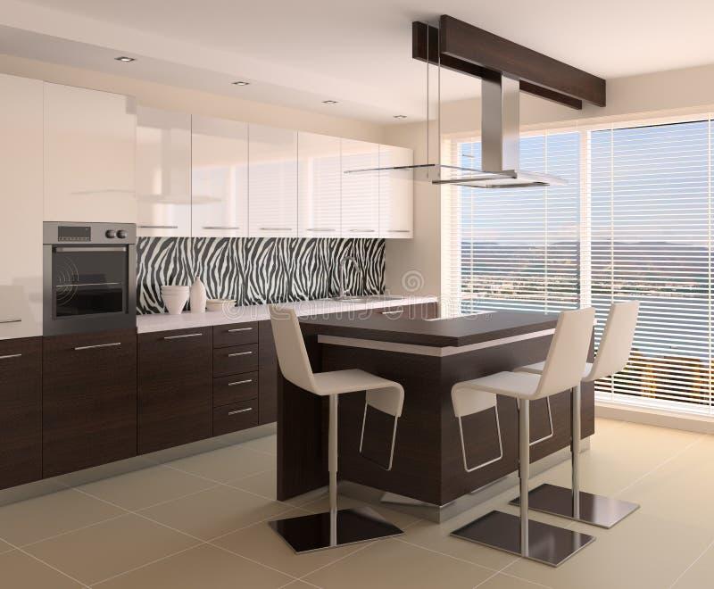 wewnętrzna kuchnia ilustracji